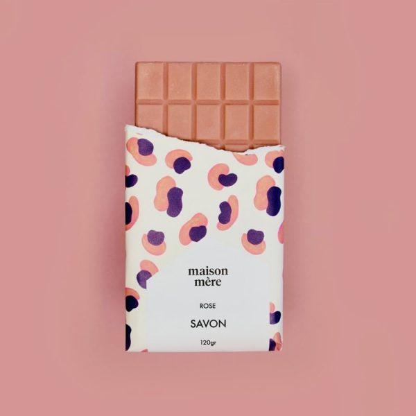 Tablette de savon à la rose bio Maison Mère